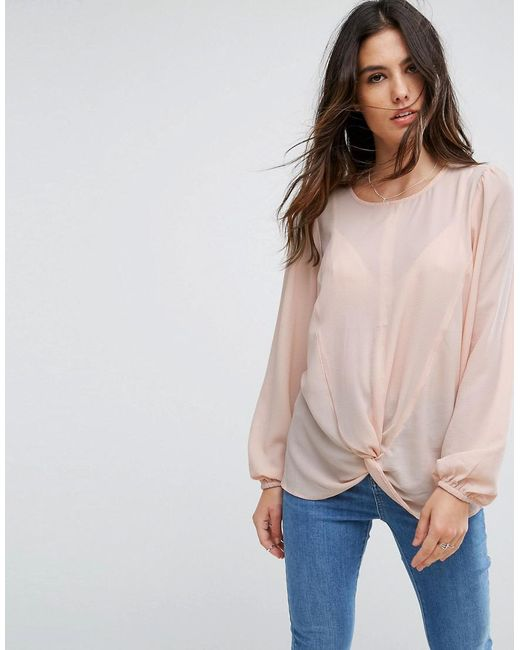 Y.A.S - Pink Knot Top - Lyst