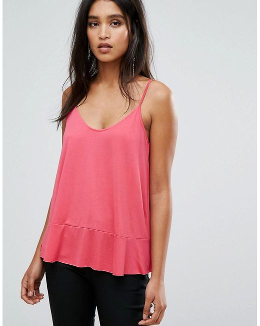Mango | Pink Scoop Front Cami Top | Lyst