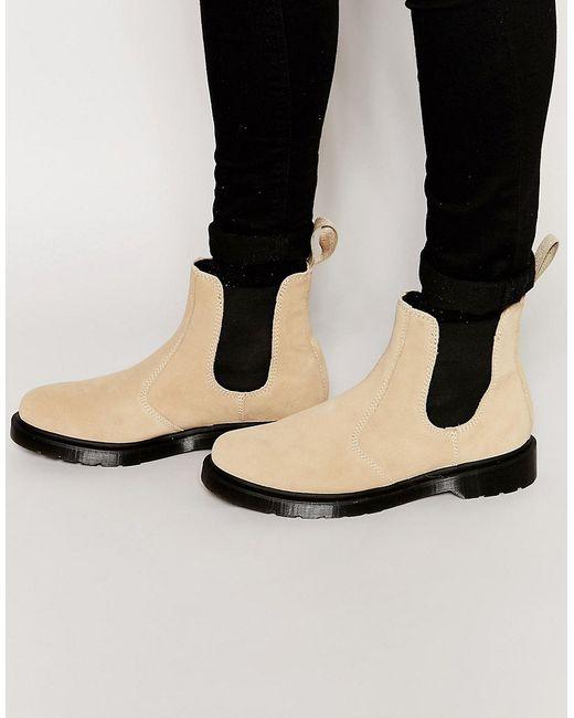 dr martens suede chelsea boots in beige save 40 lyst. Black Bedroom Furniture Sets. Home Design Ideas