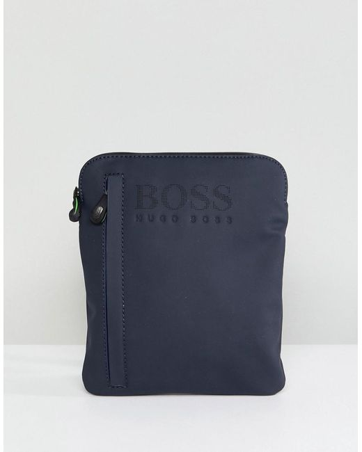 BOSS - Blue Boss Flight Bag In Navy for Men - Lyst