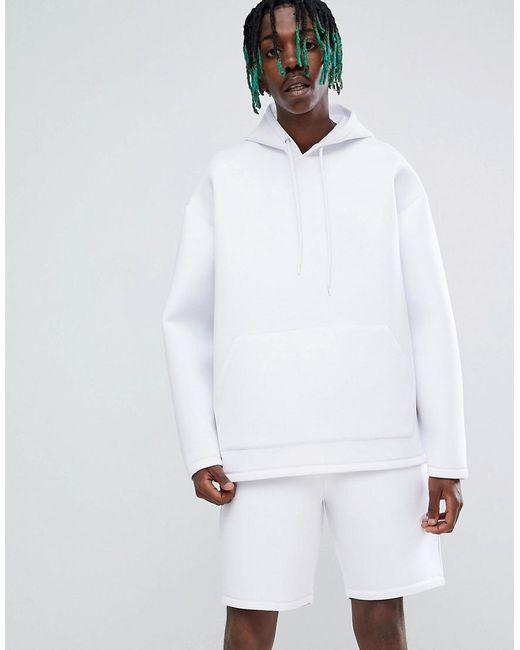 ASOS DESIGN - Co-ord Oversized Hoodie In White Scuba for Men - Lyst