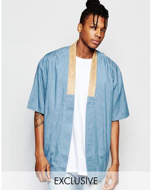 The new county Denim Kimono in Blue for Men   Lyst