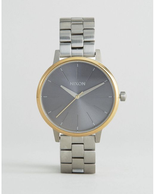 Nixon | Brown Mixed Metal Kensington Watch A099-2477 - Silver | Lyst