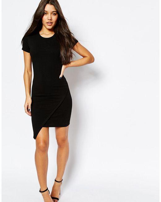 Stores pattern Dresses Bodycon Halter Hem Asymmetric Short Sleeve