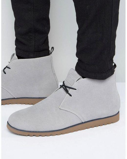 D-Struct | Gray Chukka Boots for Men | Lyst