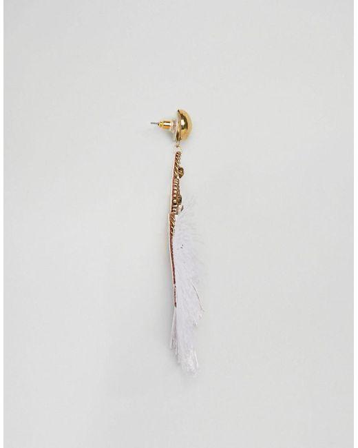 DESIGN Embroidered Tassel Earrings - Gold Asos jLBmH8qZJ