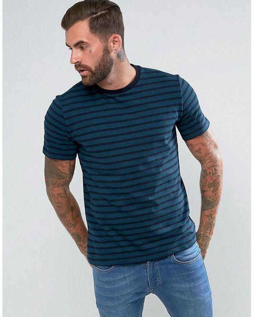 PS by Paul Smith | Blue Herringbone Horizontal Stripe T-shirt In Teal for Men | Lyst