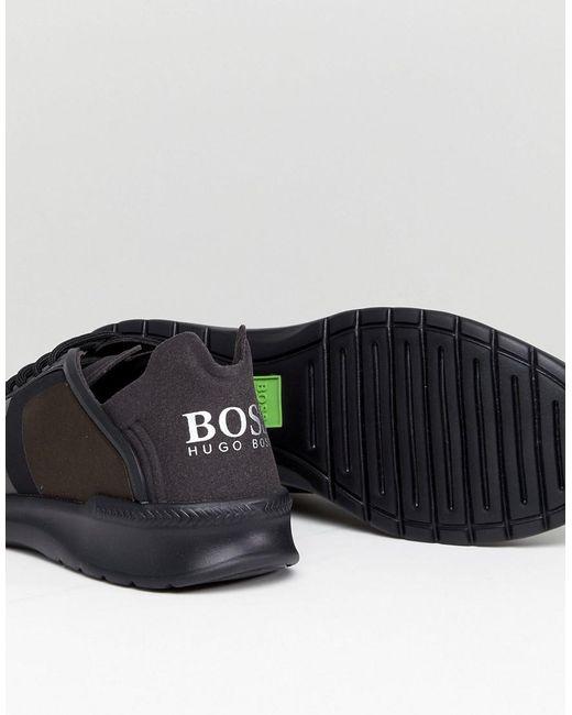 HUGO BOSS Extreme Neoprene Sneakers in Khaki Z09xmD1