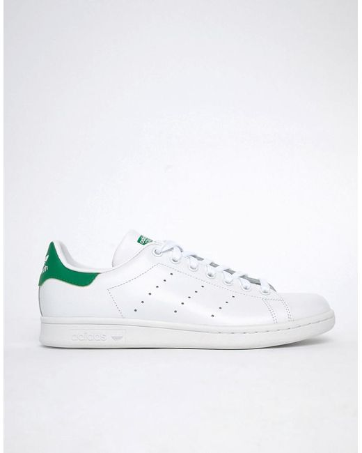 wholesale dealer 37f3d 35c6e ... Adidas Originals - Stan Smith Leather Trainers In White M20324 for Men  - Lyst