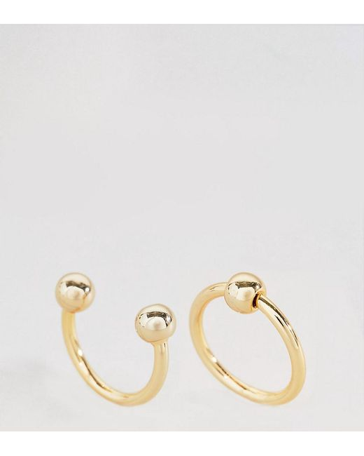 Cheap Monday - Metallic Pierced Rings - Lyst