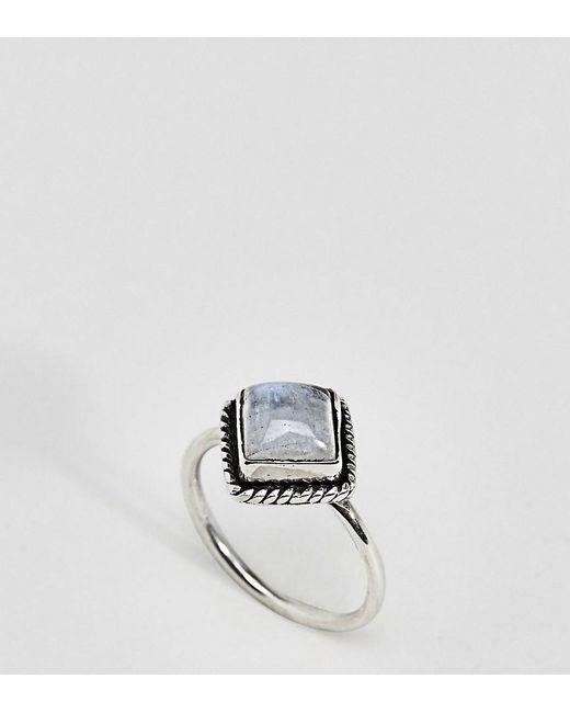 Rock N Rose   Metallic Rock N Rose Sterling Silver Diamond Moonstone Ring   Lyst