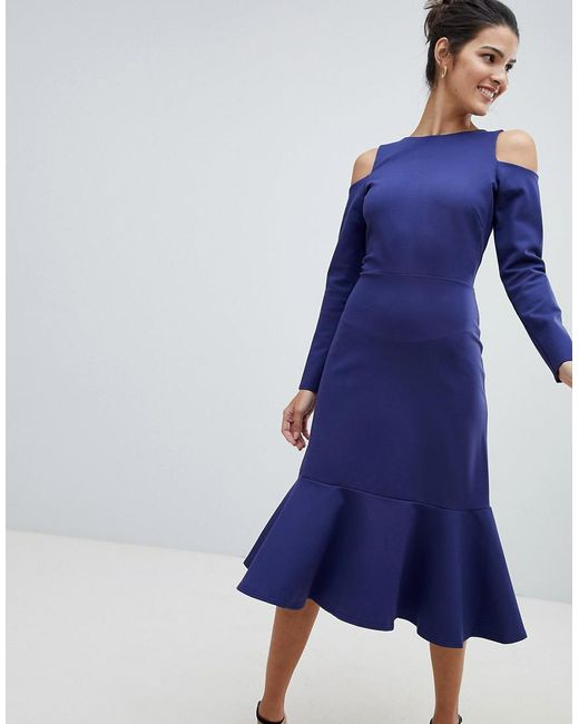 Coloris Lyst Bleu Closet Paules En Nues Robe IE9HD2