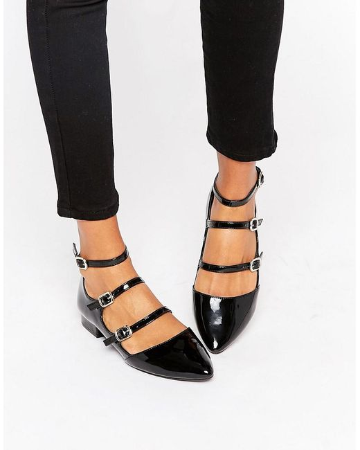 new look multi patent shoe in black lyst
