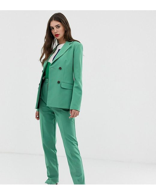 ASOS - Green Asos Design Tall Slim Suit Trousers In Sage - Lyst