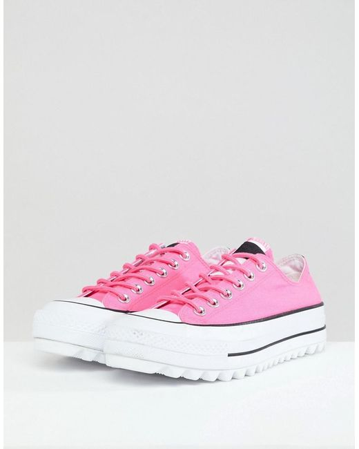 Platform Ripple Trainers In Pink - Pink Converse iGvZydm