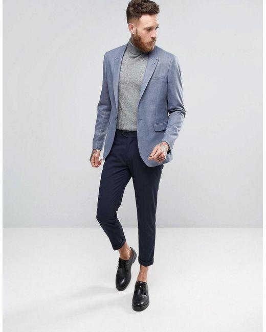 Asos Wedding Skinny Suit Jacket In Slate Grey Micro Texture in ...