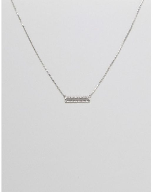 Fiorelli - Metallic Bar Necklace - Lyst