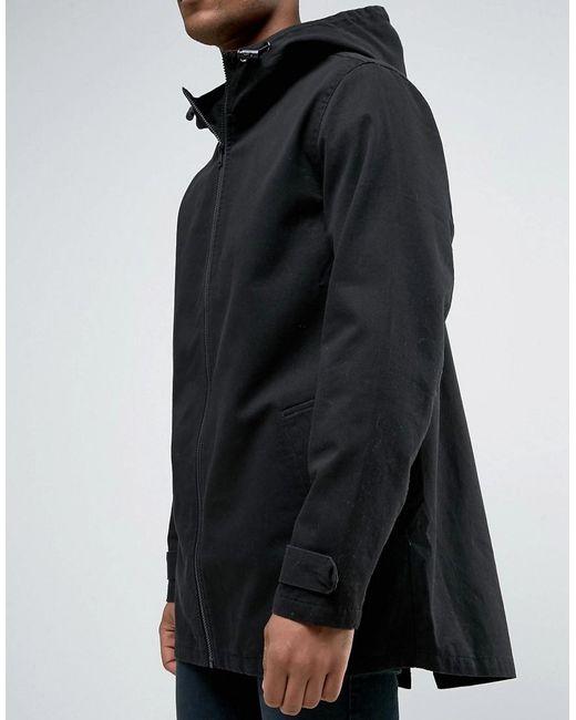 Asos Lightweight Parka Jacket In Black in Black for Men | Lyst