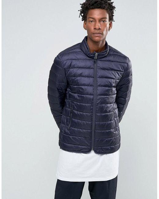 Napapijri | Blue Aerons Quilted Jacket Zip Front - Navy for Men | Lyst