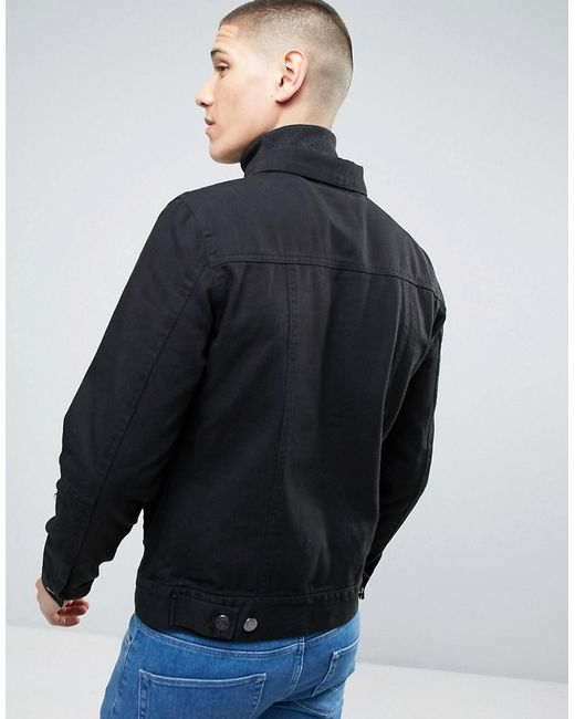 Casual friday denim jacket with double patch pockets in for Mens dress shirts black friday