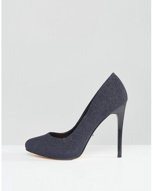 Faith Candy Shimmer Platform Shoes in Blue   Lyst