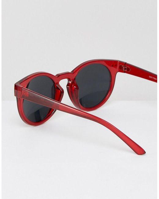 Red Round Sunglasses Mens   David Simchi-Levi bcef5852121b