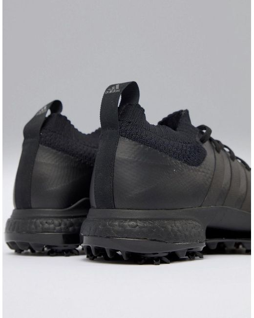 adidas Tour 360 Knit Boost Blackout Editon Shoes In AC8526
