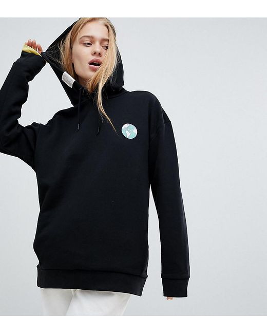 a995ac2463 PUMA - Black Exclusive Oversized Organic Cotton Skate Hoodie - Lyst ...