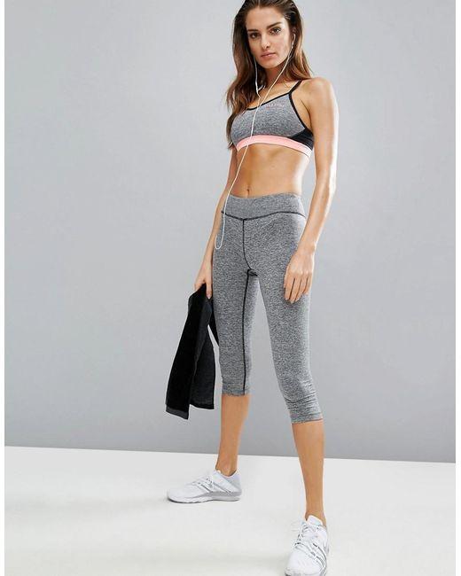 Elle Fitness Leggings: Elle Sport Training Capri Gym Leggings In Gray