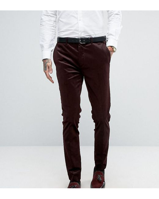 Only & Sons | Red Super Skinny Suit Pant In Cord for Men | Lyst
