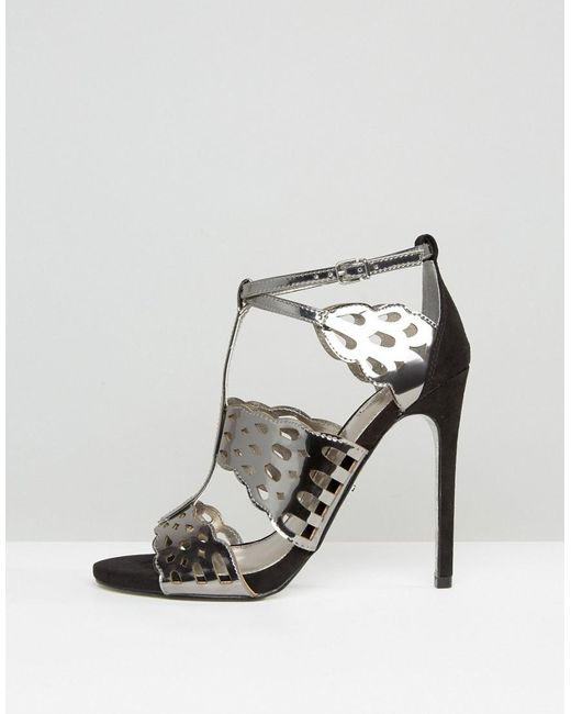 Carvela Give Gunmetal Metallic Heeled Sandals 42iOMHYcq