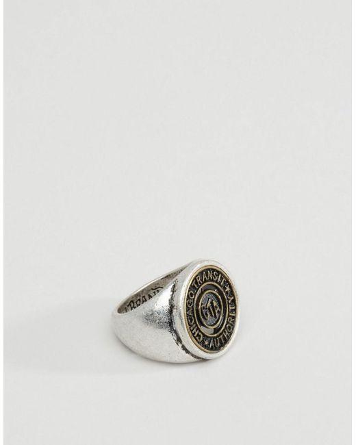 Icon Brand | Metallic Chicago Signet Ring for Men | Lyst