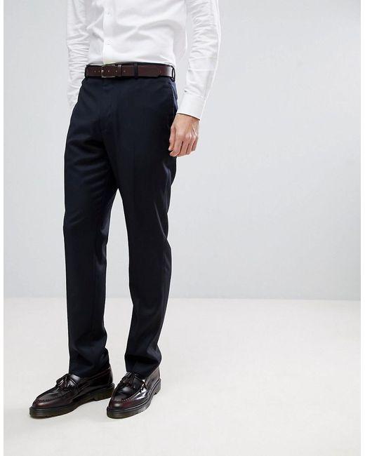 ASOS - Blue Asos Wedding Slim Suit Trousers In Navy Cashmere Blend for Men - Lyst