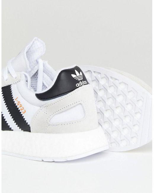 I-5923 Runner Boost Trainers In White CQ2489 - White adidas Originals TqIAsA0