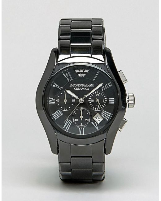 Emporio Armani - Ar1400 Chronograph Black Ceramic Watch for Men - Lyst