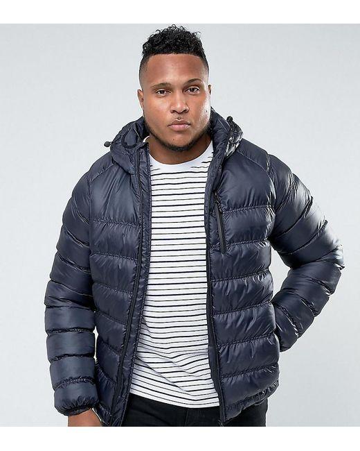 Bellfield - Blue Plus Lightweight Padded Jacket With Hood for Men - Lyst