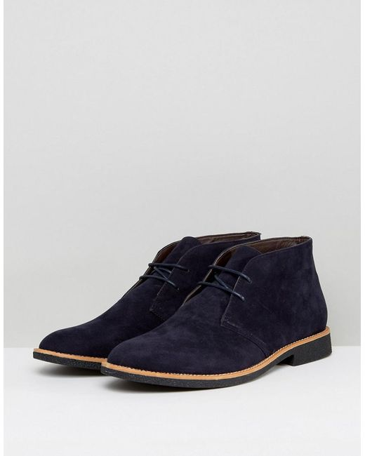 visit cheap price New Look Faux Suede Desert Boots In Navy from china sale online wide range of sale online browse online zXLndyI1