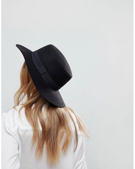 ASOS | Black Easy Felt Boater Hat With Size Adjuster | Lyst