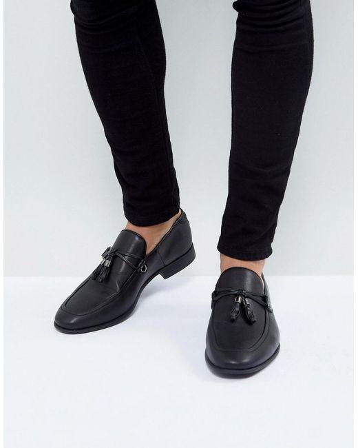 Mocassins à glands en imitation cuir - Noir ASOS pour homme en coloris Black