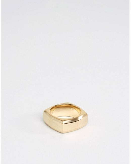 Vitaly | Metallic Fyra Geometric Ring In Gold | Lyst