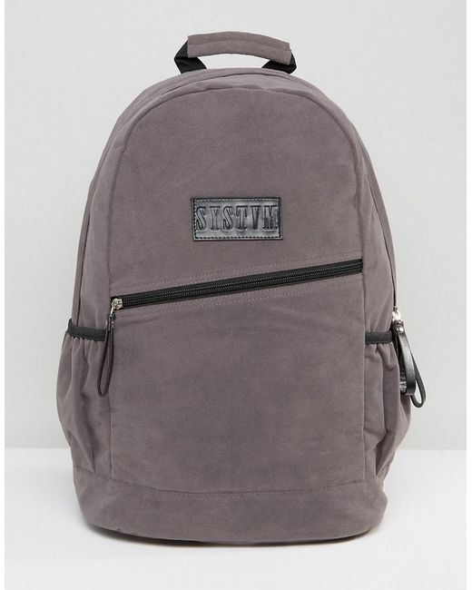 SYSTVM | Backpack In Gray Faux Suede for Men | Lyst