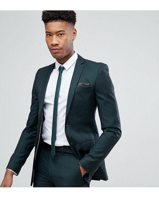 French Connection Tall Skinny Suit Jacket In Bottle Green
