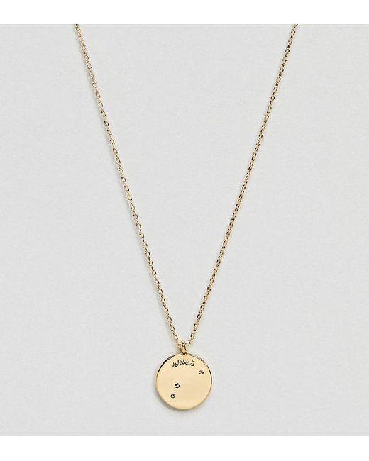 Accessorize - Metallic Aries Constellation Gold Pendant - Lyst