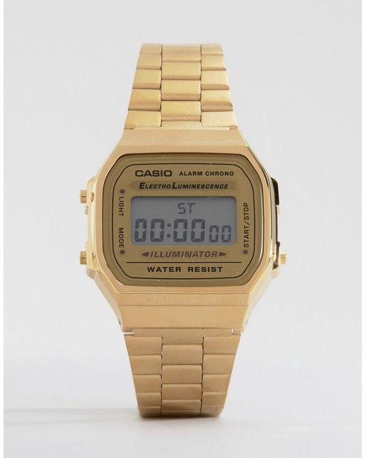 G-Shock   Metallic A168wg-9ef Gold Plated Digital Watch   Lyst