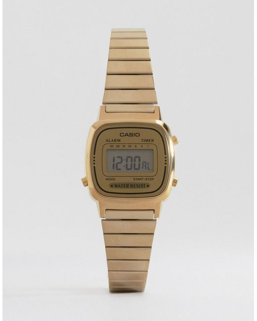 G-Shock   Metallic Mini Digital Watch La670wega-9ef   Lyst