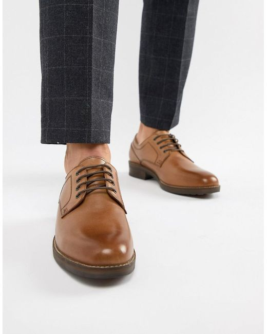 Red Tape - Brown Elcot Lace Up Brogue Shoes In Tan for Men - Lyst