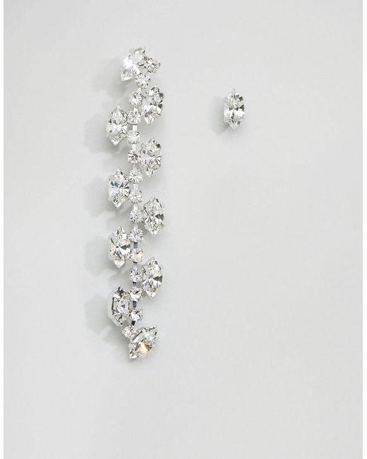 Krystal London | Metallic London Swarovski Crystal Trellis Mis-match Earring | Lyst