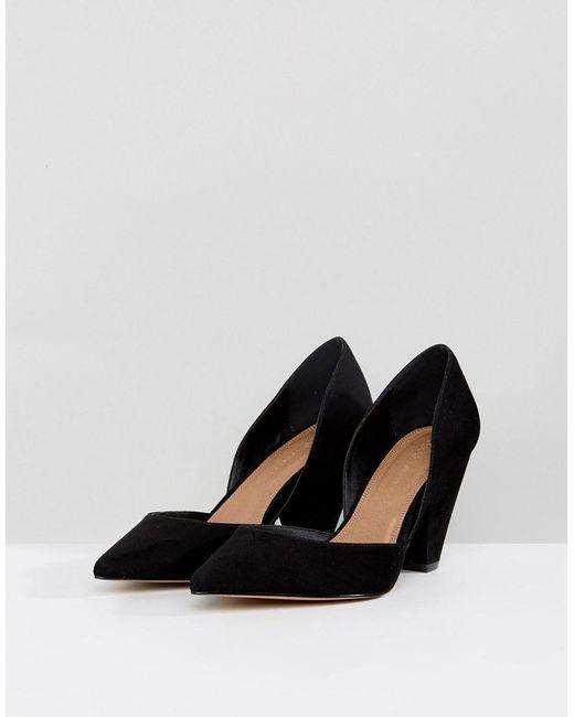 6dc60686e2cb ... ASOS - Black Asos Sulphur Wide Fit Pointed Heels - Lyst