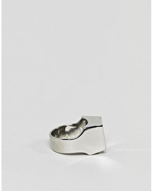 Cheap Monday Cypher Ring - Silver 4JaAM
