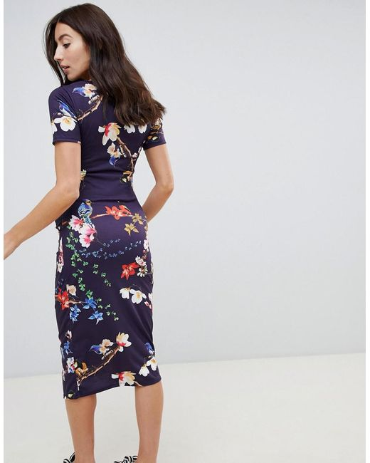 1f546ad8221bb ... Bluebelle Maternity - Multicolor Short Sleeve Bodycon Dress In Floral -  Lyst